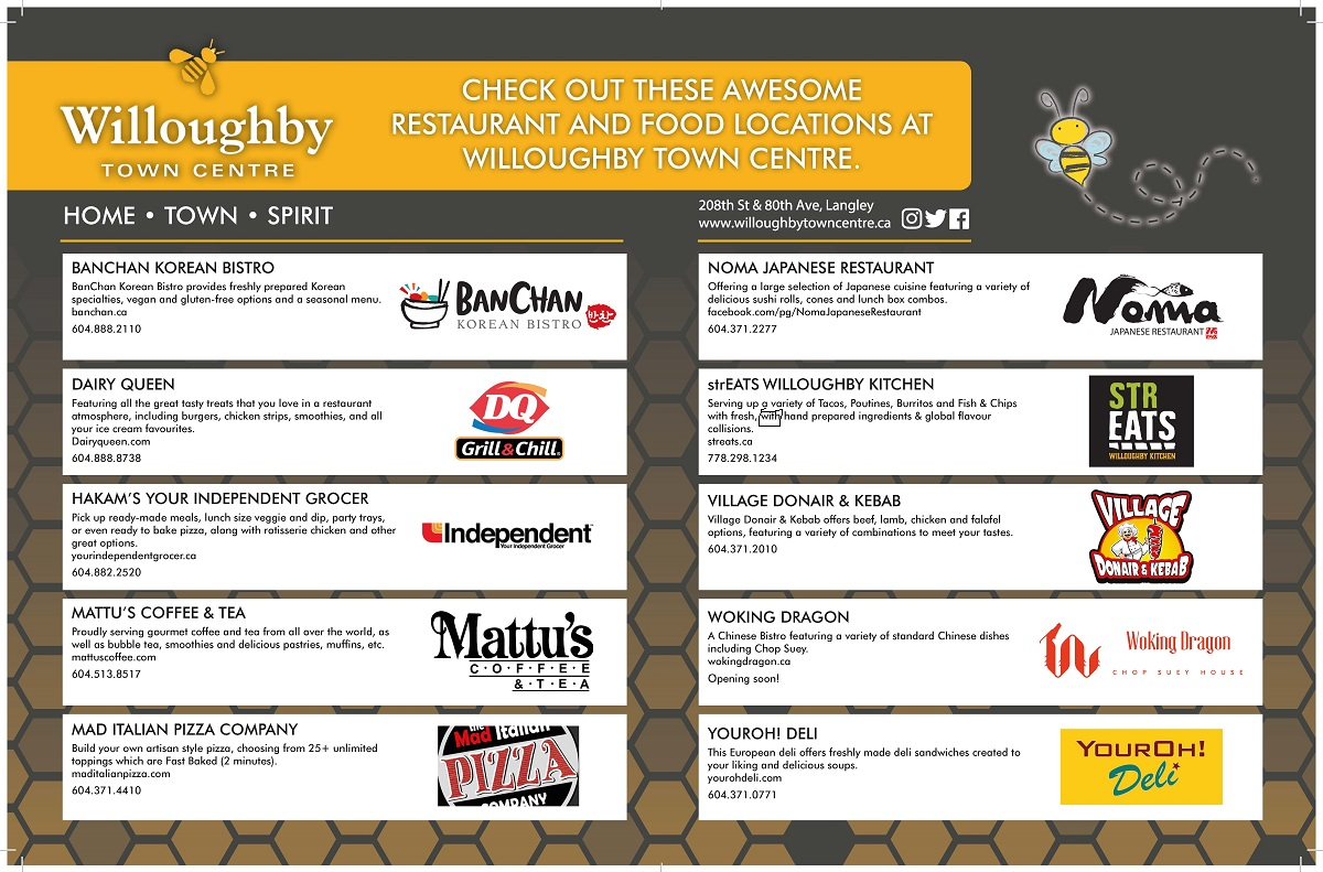 Willoughby Town Centre Featured Restaurants