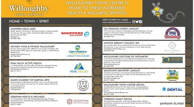 Health & Wellness Businesses at Willoughby Town Centre