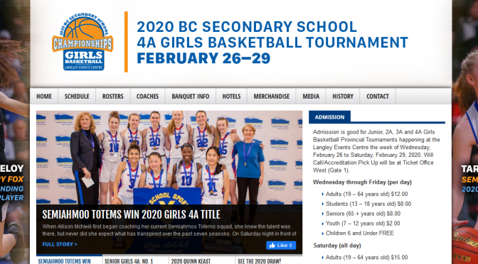 2020 BC Secondary Girls Basketball Tournament